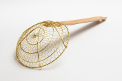 Chinese Brass Skimmer/Strainer 15cm diameter spider with bamboo handle / 732W7
