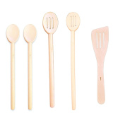 Pacific Merchants - 46cm , 41cm and 36cm Giant Spoons - 30cm Curved Spatula - 41cm Regular Slotted Spoon