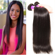 ALI JULIA Wholesale 7A Brazilian Straight Virgin Hair Weave 3 Bundles 100% Unprocessed Remy Human Hair Weft Extensions 95-100g/pc Natural Black Colour
