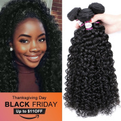 Doris beauty 8A Brazilian Virgin Curly Hair 3 Bundles (12 12 30cm ) Remy Hair Extensions Natural Colour Brazilian Kinkys Curly Hair Wet and Wavy Real Human Hair Weave