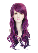 ZUUC Women's Long Full Curly Wavy Glamour Hair Wig