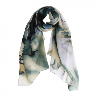 Datework Lady Long Wrap Women's Shawl Chiffon Scarf Scarves (Blue)