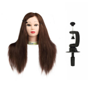Coastacloud 60cm Professional Cosmetology Mannequin Manikin Hairdressing Training Head with 95% Real Natural Human Hair - Miya