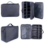 YaeKoo Professional Makeup Cosmetic Case Beauty Artist Storage Waterproof Tools Brushes Box Bag Holder Organiser with Shoulder Strap