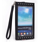 Womens wallet phone holder w/ id holder and coin pocket. Universal fit for