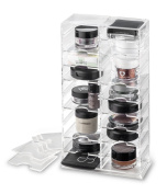 Makeup Stand (With Removable Dividers) Organiser & Beauty Care Holder Provides 20 Compartment Space Storage For Cosmetics | byAlegory