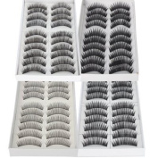 Imcolorful Black Long & Thick Reusable False Eyelashes Fake Eye Lash for Makeup Cosmetic 4 Kinds of Style 40pairs