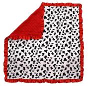 Dear Baby Gear Baby Blankets, Dalmatian, Red Minky