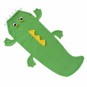 Echolife Green Crocodile Tail Blanket Soft Fleece Children Sleeping Bag Christmas Gifts for Kids 3-10 Years Old