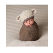 Lovely Newborn Infant Crochet Cotton Knitted Baby Photography Props Lamp Hat