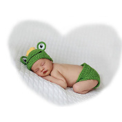 Newborn Infant Handmade Photo Prop Outfit Clothes Knit Crochet Baby Photography Props Frog