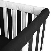 Go Mama Go Designs Hypoallergenic Soft Cotton Couture 130cm x 30cm Teething Guards in White for Crib Rail