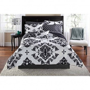 Mainstays Classic Noir Bed In A Bag Bedding Set - Machine Washable for Easy Care