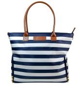 "Sarah Wells ""Abby"" Breast Pump Bag - Navy Striped"