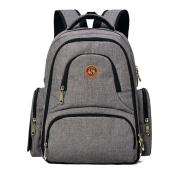 Imyth Unisex Nappy Bag Large Capacity Travel Nappy Backpack Waterproof Baby Bag