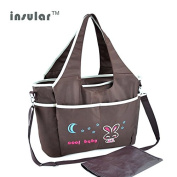 Insular Multifunctional Mummy Bag Baby Nappy Bag with Changing Mat