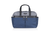TWELVElittle Unisex Two-tone Satchel, Grey/Navy