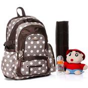 BayB Brand Colorland Nappy Backpack - Brown Polka Dots