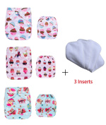 Calababy Waterproof Washable Pocket Baby Cloth Nappy Nappies with Snaps with 3 Inserts