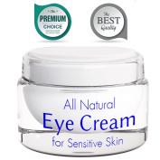 Eye Cream for Wrinkles with Retinol - Anti Wrinkle Anti Ageing Cream - Sensitive Skin Moisturiser - Brightening Cream for Men and Women - Skin Firming Lotion - Natural Under Eye Cream for Dark Circles