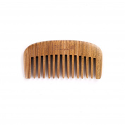 Breezelike Sandalwood Comb - Hair and Beard Comb - No Static Natural Detangler - Handmade Wooden Wide Tooth Mini Pocket Comb
