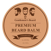 The Gentlemen's Premium Cedarwood Beard Balm - 60ml - Tame Your Beard With No Greasiness - Make It Look Thicker and Fuller