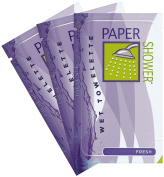 Paper Shower - Fresh (Wet Towelette Only) 10 Individual Body Wipe Packs New .