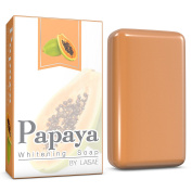 Papaya Whitening Soap - For Natural Skin Lightener - Help Exfoliates & Cleanses Body-Facial - Eliminates Acne Scars, Age Spots, Discoloration & Fine Lines - Bleaching & Suitable For All Skin Types