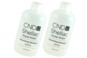 Shellac Power Polish Nourishing Remover Professional nail product remover with Macadamia and Vitamin E oils - Size 8 oz , 236 ml