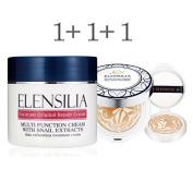 Korean Cosmetics Elensilia Escargot Original Repair Cream with Snail Extracts 50g + Escargot Original Repair Essence Foundation 12g+12g