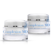 Complexion MD Anti Ageing 2 Step Skin Care System (Combo) - Microdermabrasion Scrub (50ml) + Anti Wrinkle Cream (30ml) - Reduce Fine Lines & Wrinkles - with Peptides & Hyaluronic Acid