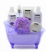 Lavender Spa Bathtub Basket
