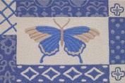 Jellybean Azure Butterfly Accent Area Rug by Jellybean