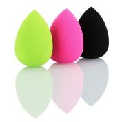 Hotrose 3 Colour Pro Sponges Puff Beauty Powder Foundation Makeup Blender Water Shape Foundation Sponges Puff