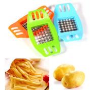 Rely2016 Mini Stainless Steel French Fry Potato Chip Cutter Vegetable Fruit Slicer Chopper Chipper