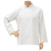 HUBERT Double Breasted Chef Coat Long Sleeve White Small
