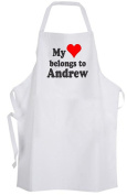 My heart belongs to Andrew – Adult Size Apron