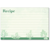 Cookbook People Recipe Cards 4x6 Favourite Herbs Green 40ea Made in USA