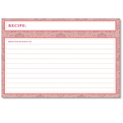 Cookbook People Recipe Cards 4x6 Agatha Pretty Pink 40ea Wedding