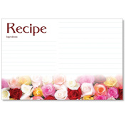 Cookbook People Recipe Cards 4x6 Rose Rows 40ea Wedding, Bridal and More
