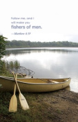 """Fishers of Men"" Matthew 4:19 Church Bulletin with Perforated Tear-Off Panel - Legal Size 20cm - 1.3cm x 36cm"