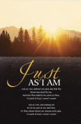 """Just As I Am"" Hymn Church Bulletin with Perforated Tear-Off Panel - Legal Size 20cm - 1.3cm x 36cm"