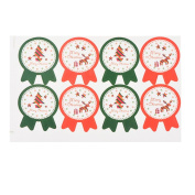 Souarts Mixed Colour Christmas Tree Elk Star Pattern DIY Paper Sticker Tags Decorations 5 Sheets