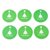 Souarts Green Colour Christmas Tree Pattern Round Paper Tags for DIY Decorations Pack of 100pcs