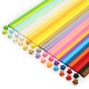 Bonayuanda Double Sided Origami Stars Paper Folding Strips- 27 Colours, 1080 Sheets