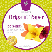 Origami Paper by Pinwheel Crafts 15cm by 15cm , 100 sheets