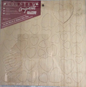 Hearts Wood Shapes Country Originals 9-156