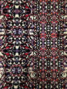 Kaleidoscope Geometric Print on Stretch Lightweight ITY Knit Jersey Polyester Spandex Fabric by the Yard