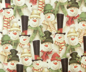 Top Hat Snowman Gift Wrap Roll 60cm X 4.6m