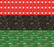 Paws and Pets Wrapping Paper (Christmas Bow-Wow!!) 3 rolls total 10sqm
